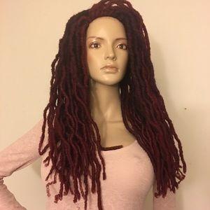 Freetress Bo loc faux dreads wig cherrywine